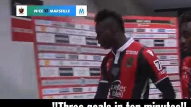 Balotelli ficou de cabeça perdida no intervalo do jogo com o Marselha