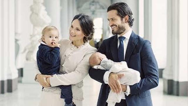 Príncipes da Suécia apresentam o segundo filho