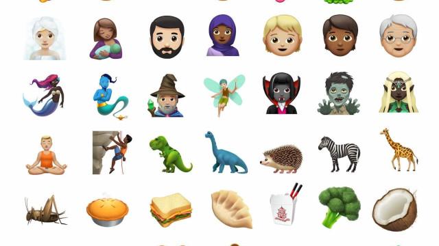 O iPhone recebeu novos emojis. Eis alguns deles