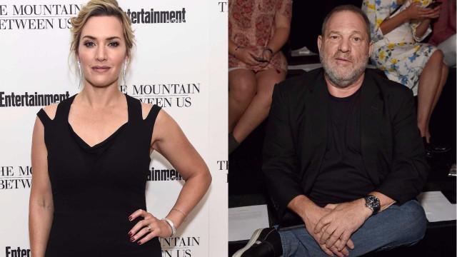 """Kate Winslet afirma que comportamento de Harvey Weinstein foi """"nojento"""""""