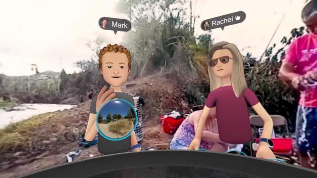 Zuckerberg usou realidade virtual para mostrar destruição de Porto Rico