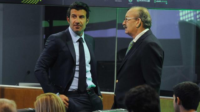 Figo deixa mensagem enigmática ao lado do presidente da UEFA