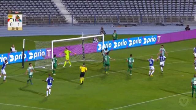Aboubakar só precisou de um minuto para fazer dois golos