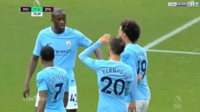 Assim foi o primeiro golo de Bernardo Silva pelo Manchester City