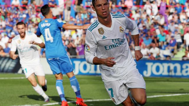 Cristiano Ronaldo 'salva' Real Madrid em Getafe