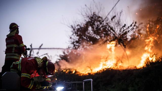 Fogo na Ericeira está fora de controlo. Uma povoação evacuada