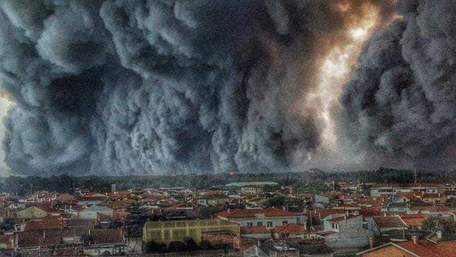 Céus negros de Portugal na página da ONU para alterações climáticas