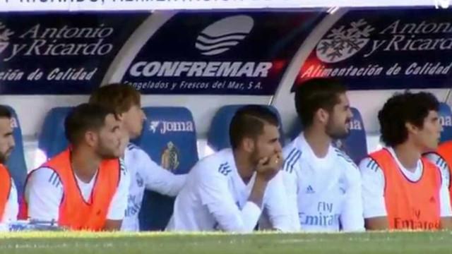 O Real estava empatado e Modric 'mandou' Isco aquecer