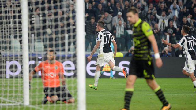 Foi assim que Manduzkic garantiu a vitória da Juve frente ao Sporting
