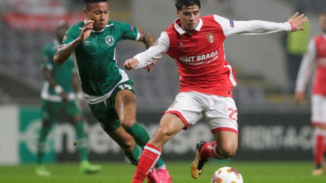 [0-1] Intervalo em Braga. Visitantes em vantagem