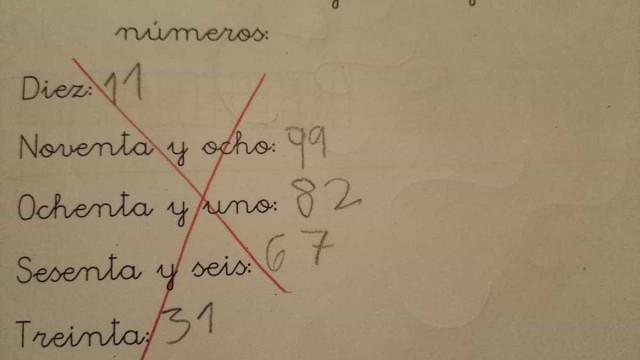 Quem está errado neste exercício: o aluno ou a professora?