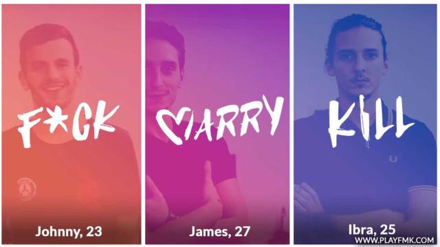 'F*ck, Marry, Kill'. O que deseja para o seu próximo encontro?