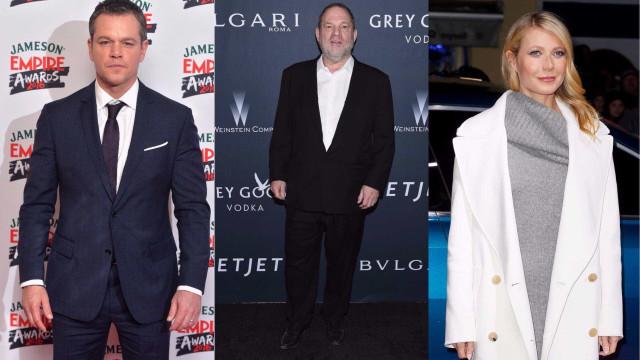 """Matt Damon sabia que Weinstein era um """"mulherengo"""" e de assédio a Paltrow"""