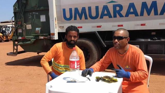 Homens do lixo explicam como deitar fora vidros partidos e fazem sucesso