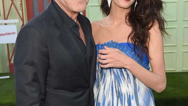 George Clooney em jantar romântico após aparatoso acidente de mota