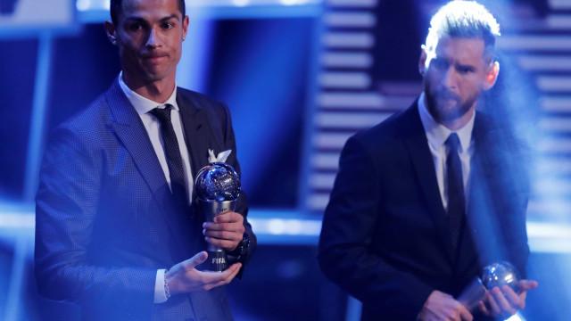 Fair-play entre gigantes: As palavras de Messi a Ronaldo após The Best