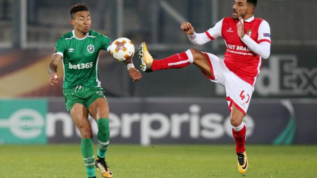 Sp. Braga tremeu mas arrancou empate europeu na Bulgária