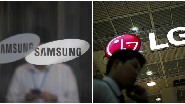 Samsung e LG querem lançar tantos telemóveis quanto possível