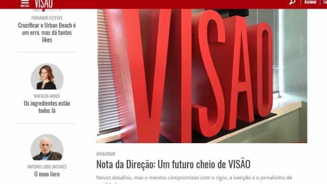 Diretores editoriais da Visão tranquilos com proposta de Luís Delgado