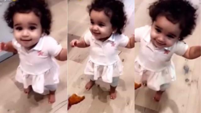 Filha de Rob Kardashian e Blac Chyna já deu os primeiros passos