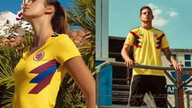 Adidas põe modelo a apresentar equipamento de seleção. Estalou o verniz