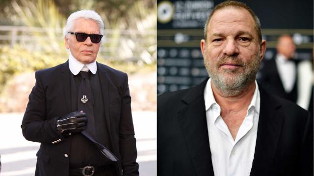 """É assim que Lagerfeld vê Harvey Weinstein: Como um """"porco"""""""