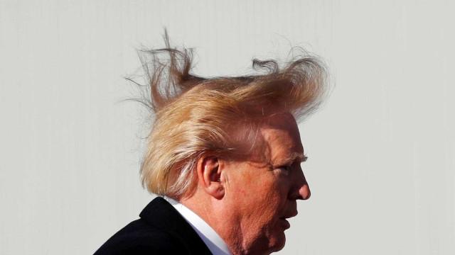 Replicou retrato de Trump no corte de cabelo