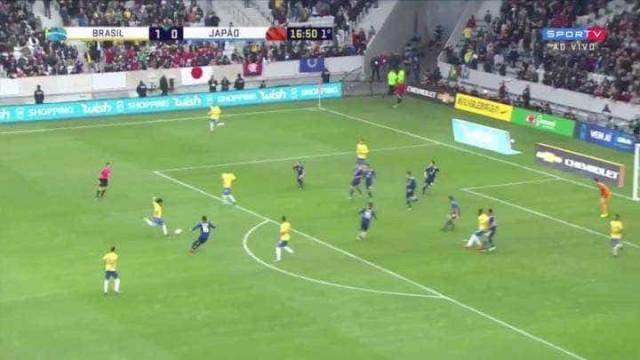 O fantástico golo de Marcelo no jogo do Brasil frente ao Japão
