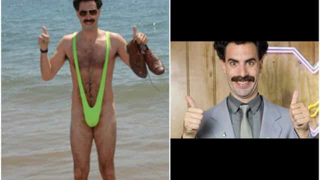 Seis turistas multados no Cazaquistão por usarem fato de banho de Borat