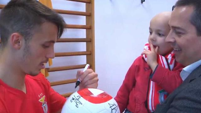 Benfica cumpre sonho de adepto de quatro anos