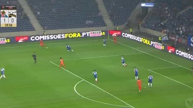 Foi com este 'túnel' a Casillas que Wellington fez o empate