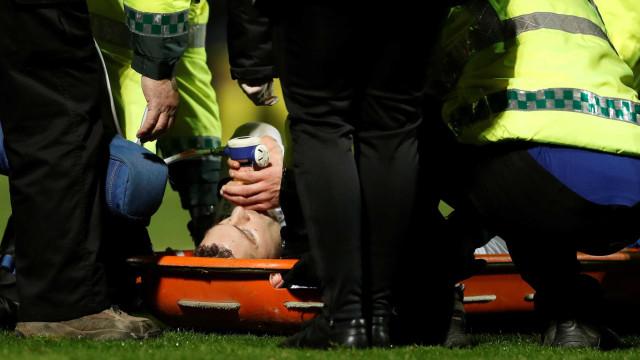 As arrepiantes imagens da lesão que acabou com a época de Coutts