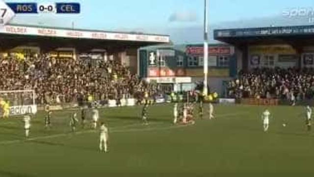 O super golo de Griffiths que valeu o triunfo ao Celtic