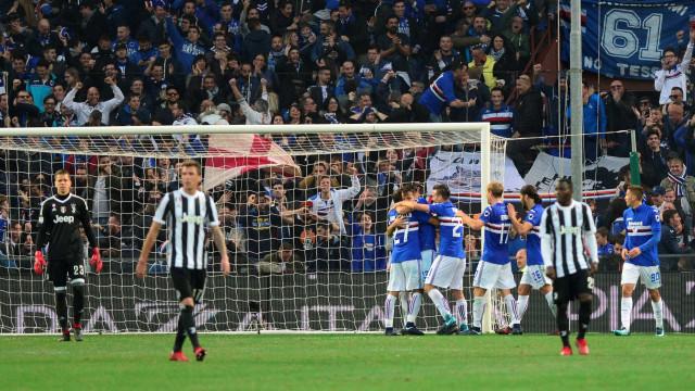 Juventus perde com a Sampdoria e vê Nápoles consolidar a liderança