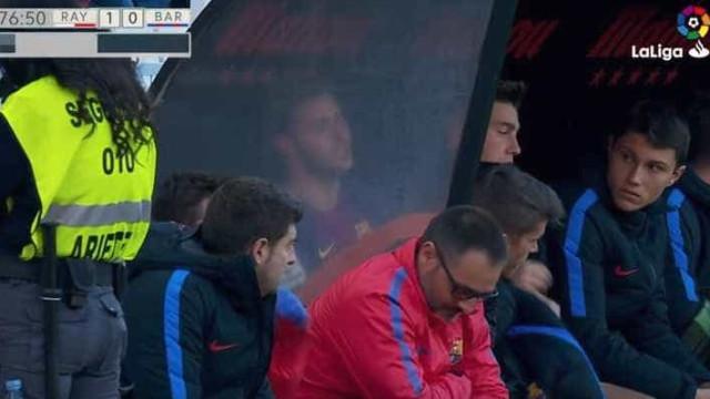 Jovem do Barça B não conteve as lágrimas após ter sido substituído
