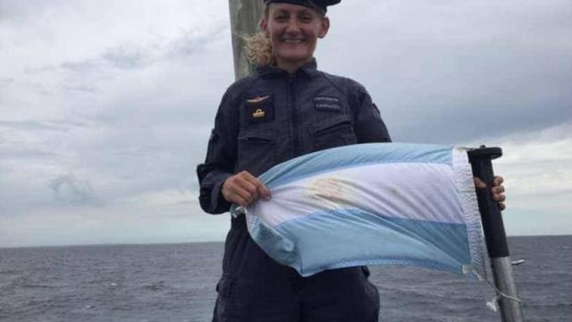 Primeira marinheira argentina ia a bordo do submarino que desapareceu