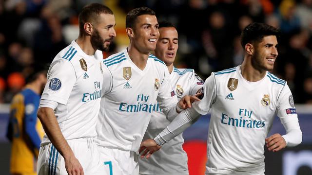 Real Madrid aplica goleada das antigas ao APOEL e está nos 'oitavos'