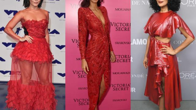 Vermelho: A tendência (preferida) das famosas