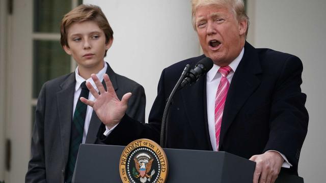 Filho de Donald Trump deu que falar porque... não sorriu