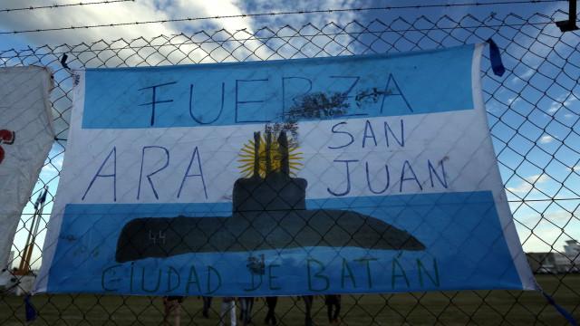 Avistado objeto na zona onde desapareceu submarino argentino