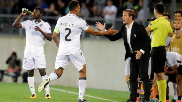 [0-0] RB Salzburg vai dominando o Vitória em busca do golo
