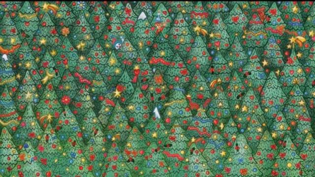 Chegou o desafio do Natal. Consegue encontrar o passarinho?