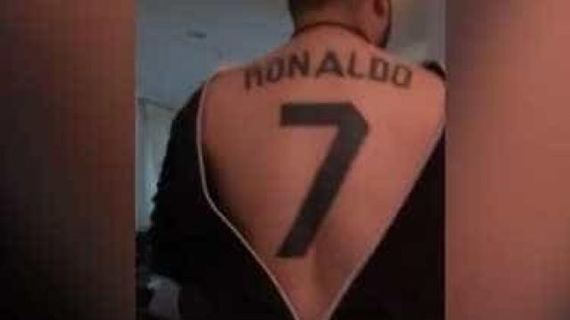 Fã de Ronaldo faz tatuagem incrível e mostra-a ao mundo
