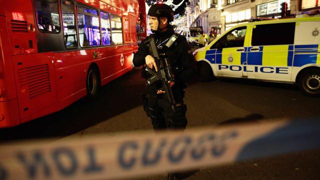 As imagens do incidente na estação de metro em Londres