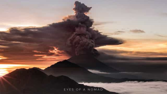 O vulcão do monte Agung em Bali está prestes a eclodir. Veja o vídeo