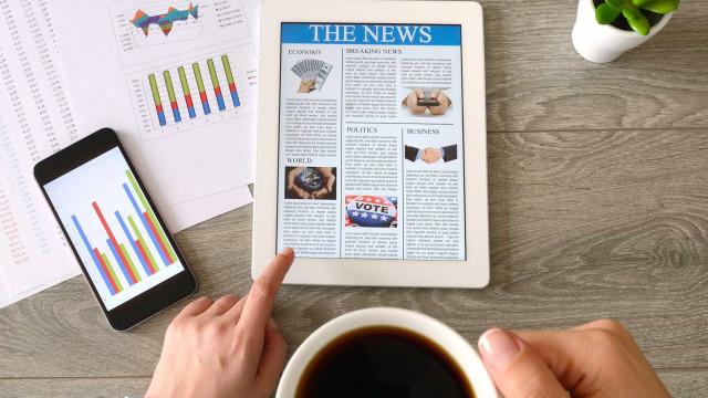 Desde 2012, hábito de ler notícias nos 'gadgets' mais do que quadruplicou