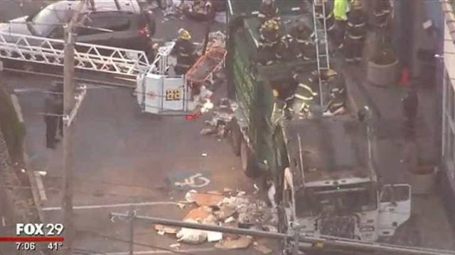Homem resgatado em estado crítico de camião do lixo