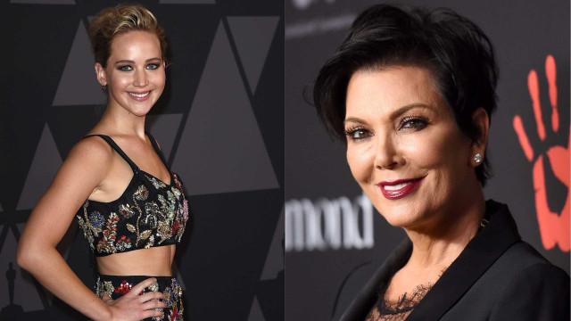 Jennifer Lawrence e Kris Jenner: Afinal não foram cinco martinis...