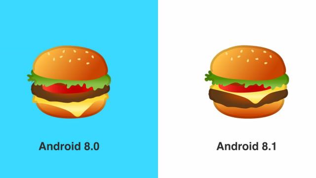 Emoji 'polémico' de hambúrguer corrigido com atualização