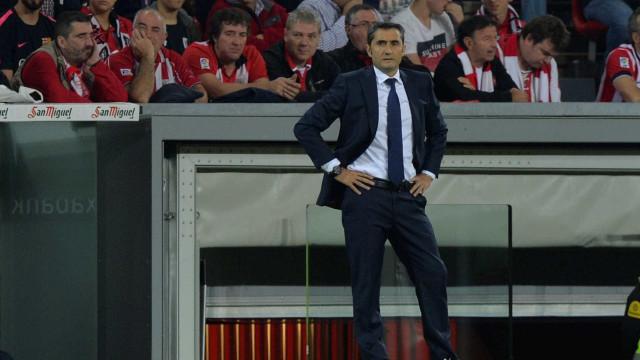 Ernesto Valverde pede competência máxima para o dérbi catalão